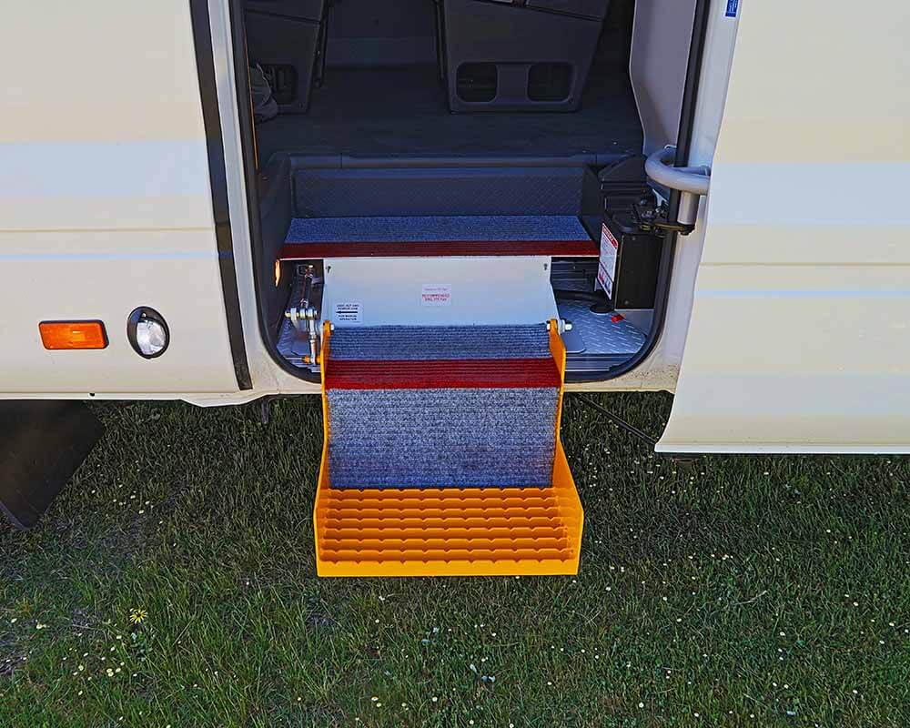 Toyota Coaster 4WD Conversion safety steps
