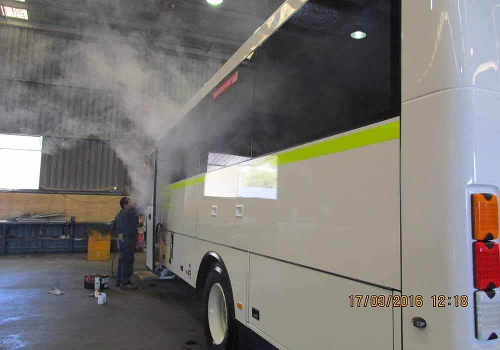 Smoke Testing to ensure complete dust seal.2