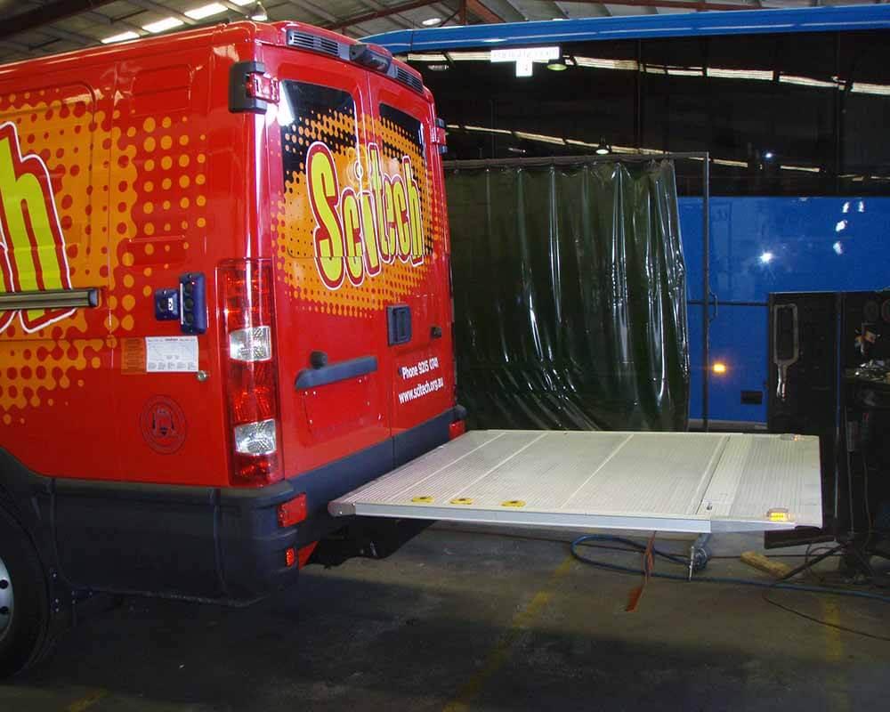 Van Tail Lift Installation 1