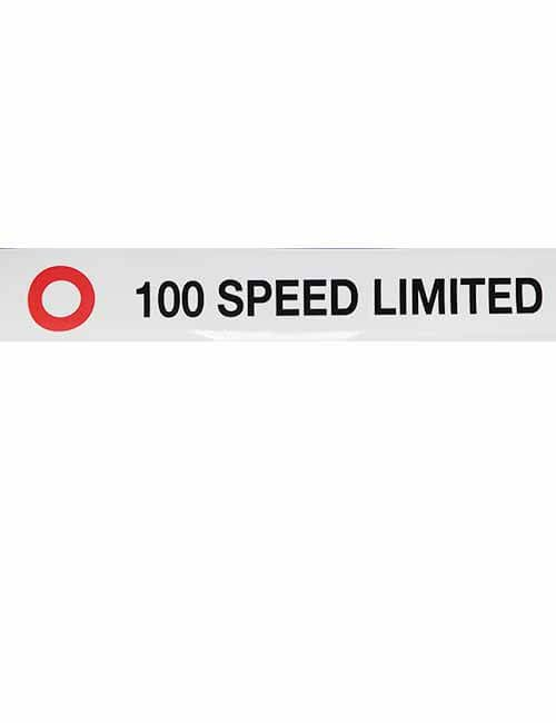 100 Speed Limited decal