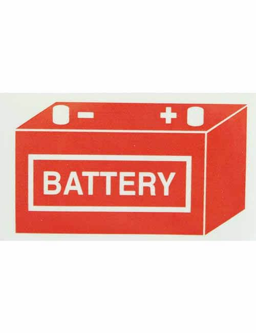Battery decal