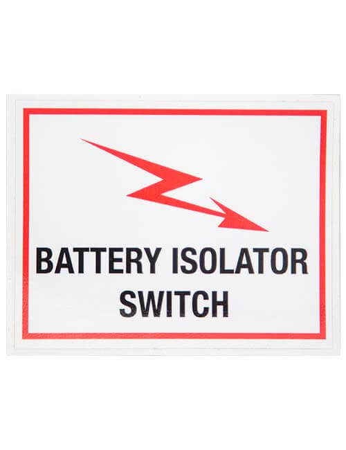 Battery Isolator Switch decal