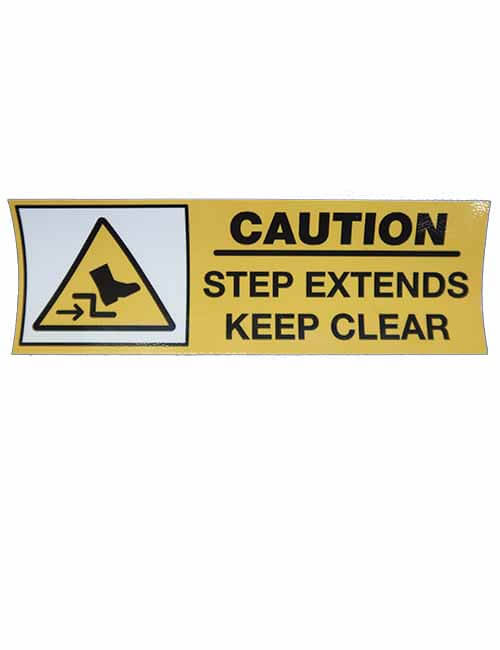 Caution Step Extends decal