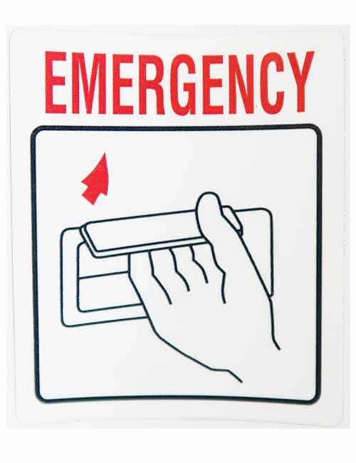 Emergency decal