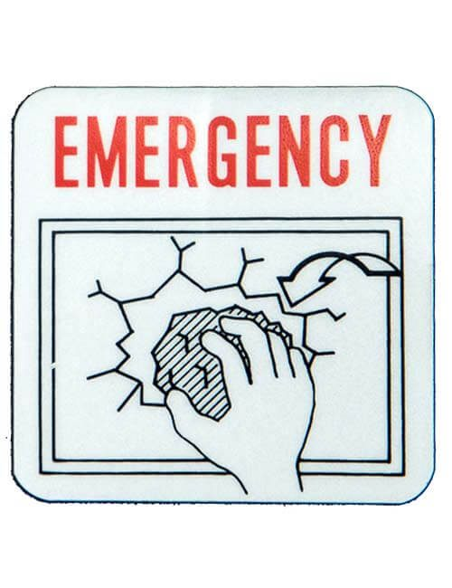 Emergency with rocky hand Label