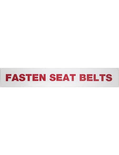 Fasten Seat Belts Label