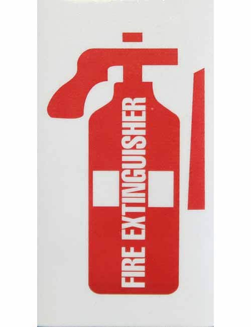 Fire Extinguisher Red on Reflective