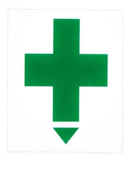 First Aid Green Cross Label