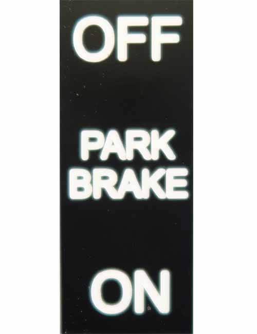 Off On Park Brake decal