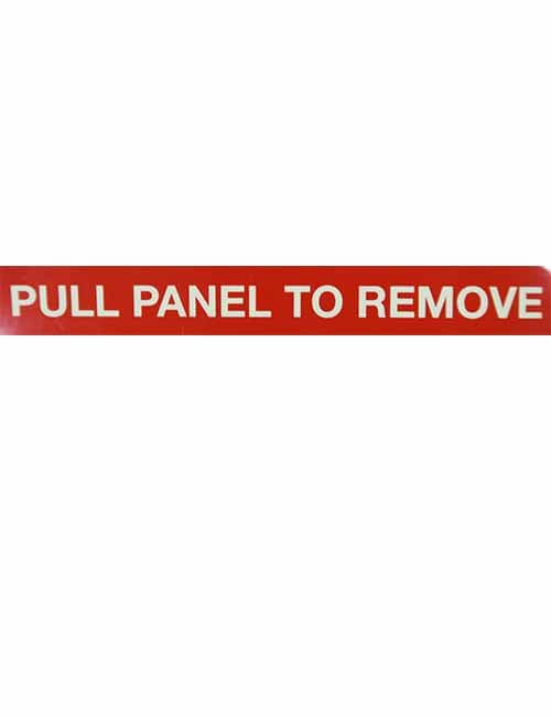 Pull Panel To Remove decal