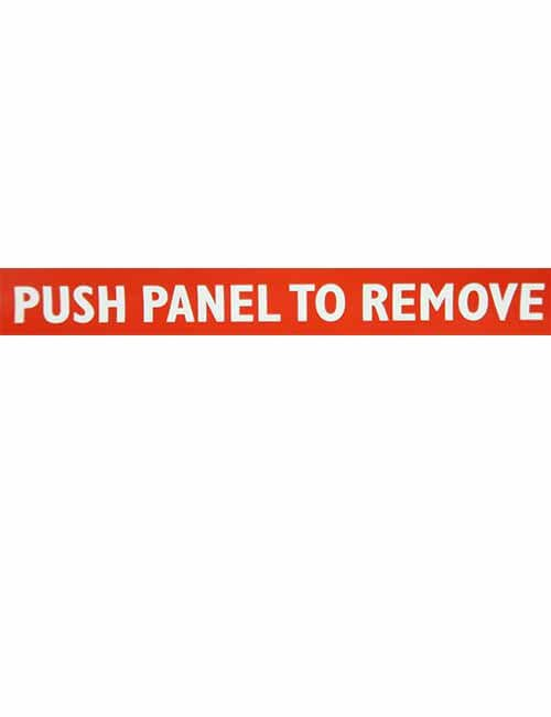 Push Panel to Remove decal