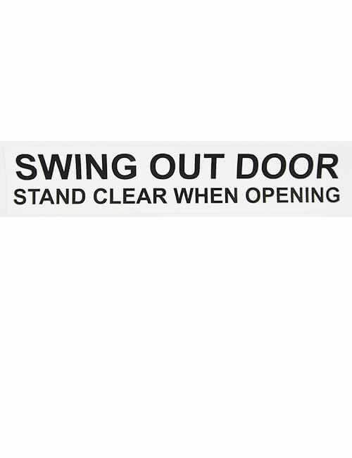 Swing Out Door decal