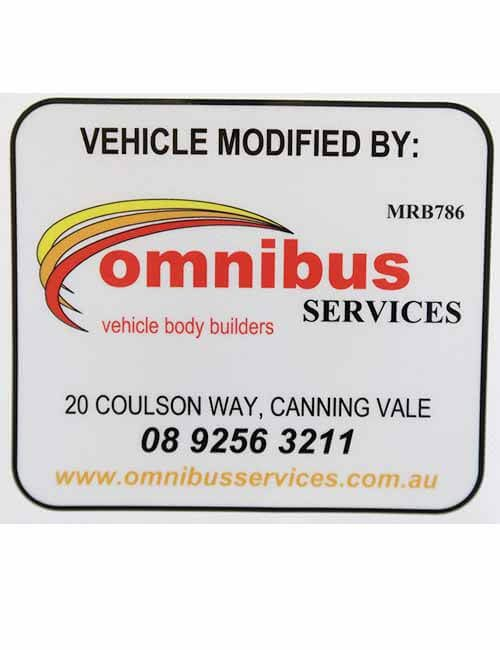 Vehicle Modified By Omnibus decal