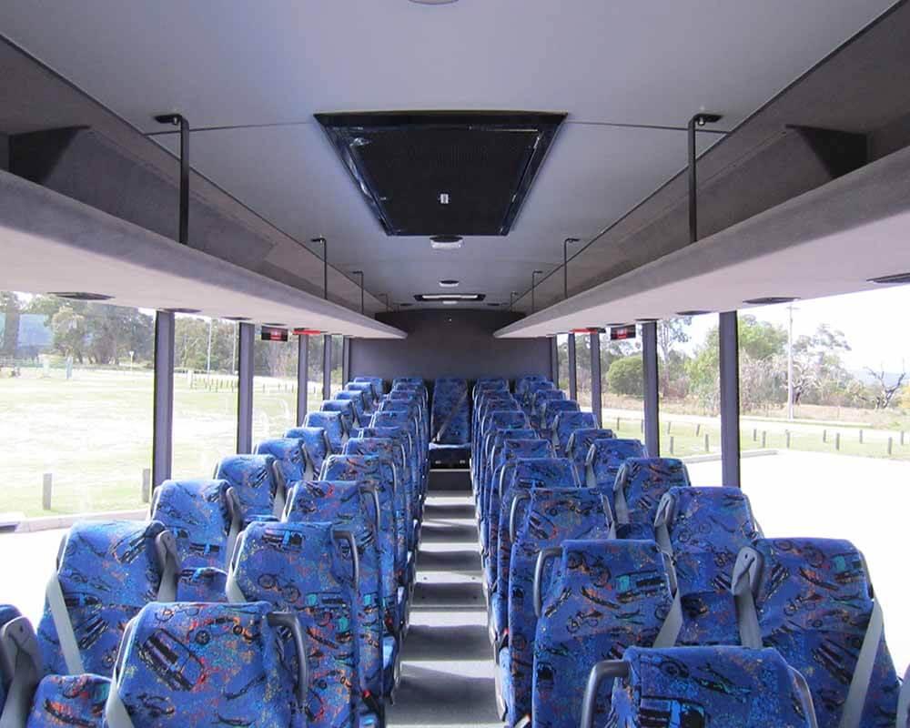 WA School Bus Interior with Parcel Racks
