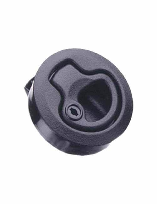 Latch Flush Pull-Locking-Black