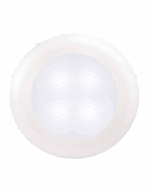 Round LED Courtesy Lamp White
