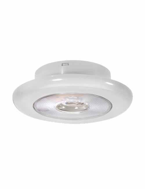 Step Light 10-30V LED White Face Plate side view