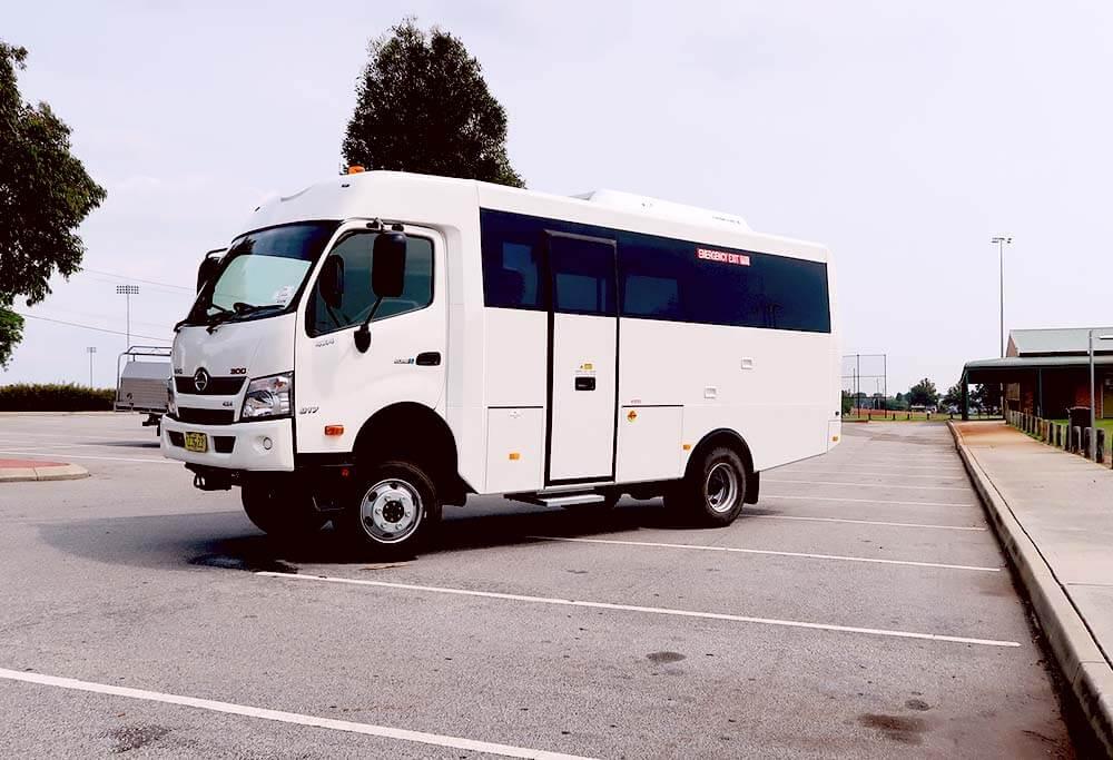 Hino 4x4 Bus and Motorhome Platform Arrives in WA - Omnibus