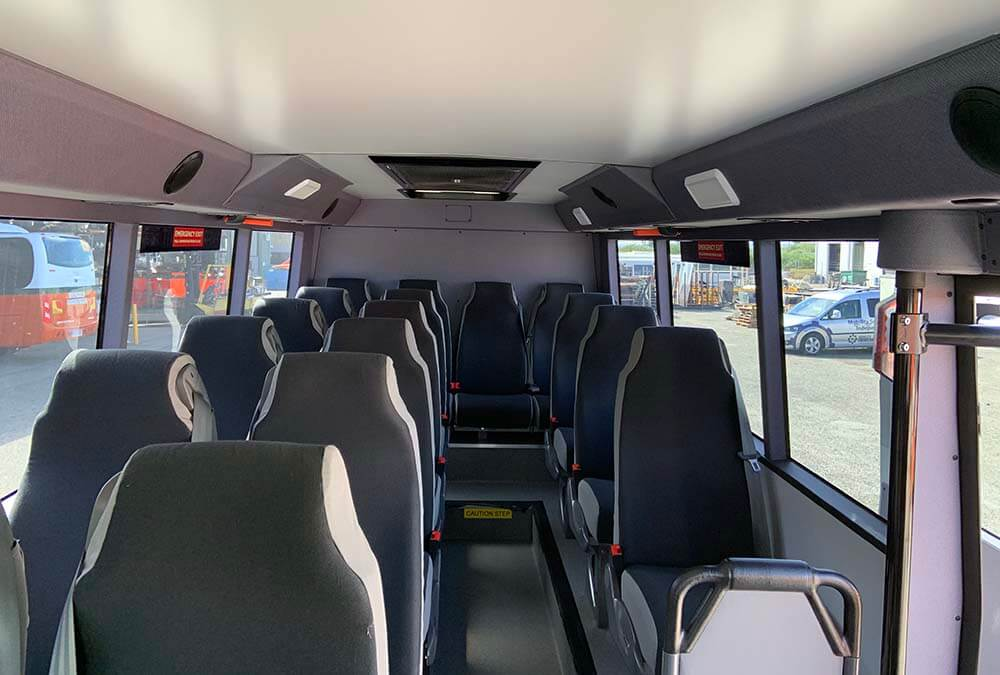 Hino 300 4WD Bus & Motorhome Platform Inside